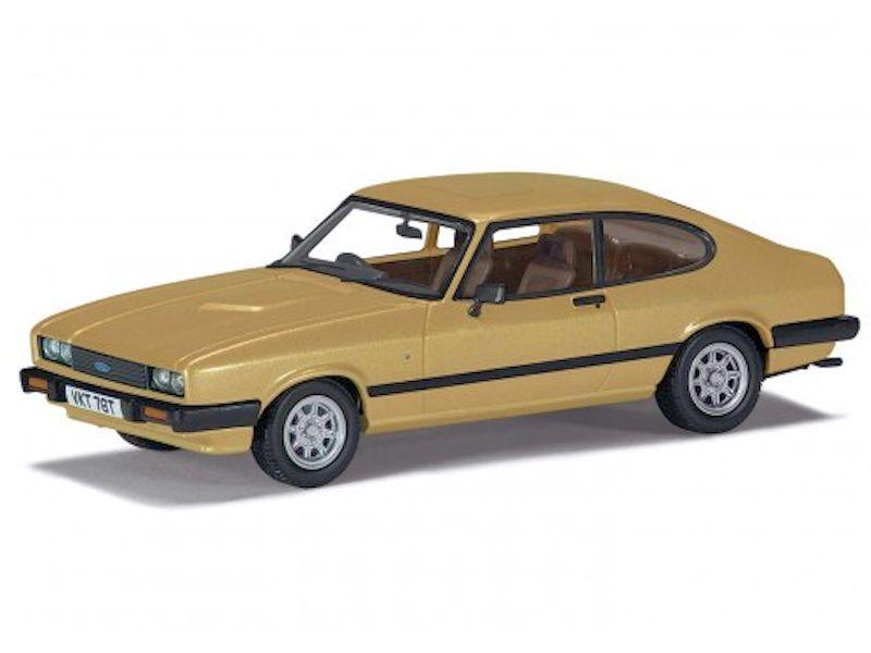 Corgi 143 Ford Capri Mk3 3.0, Ghia, Oyster Gold, RHD   Corgi ...