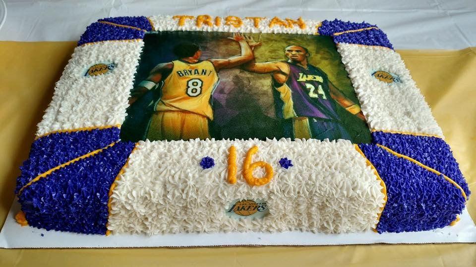 Kobe Bryant Lakers Cake   Bryant lakers, Kobe bryant, Kobe