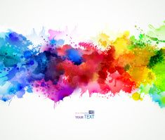 Bright Stains Vector Art Illustration Watercolor Splash