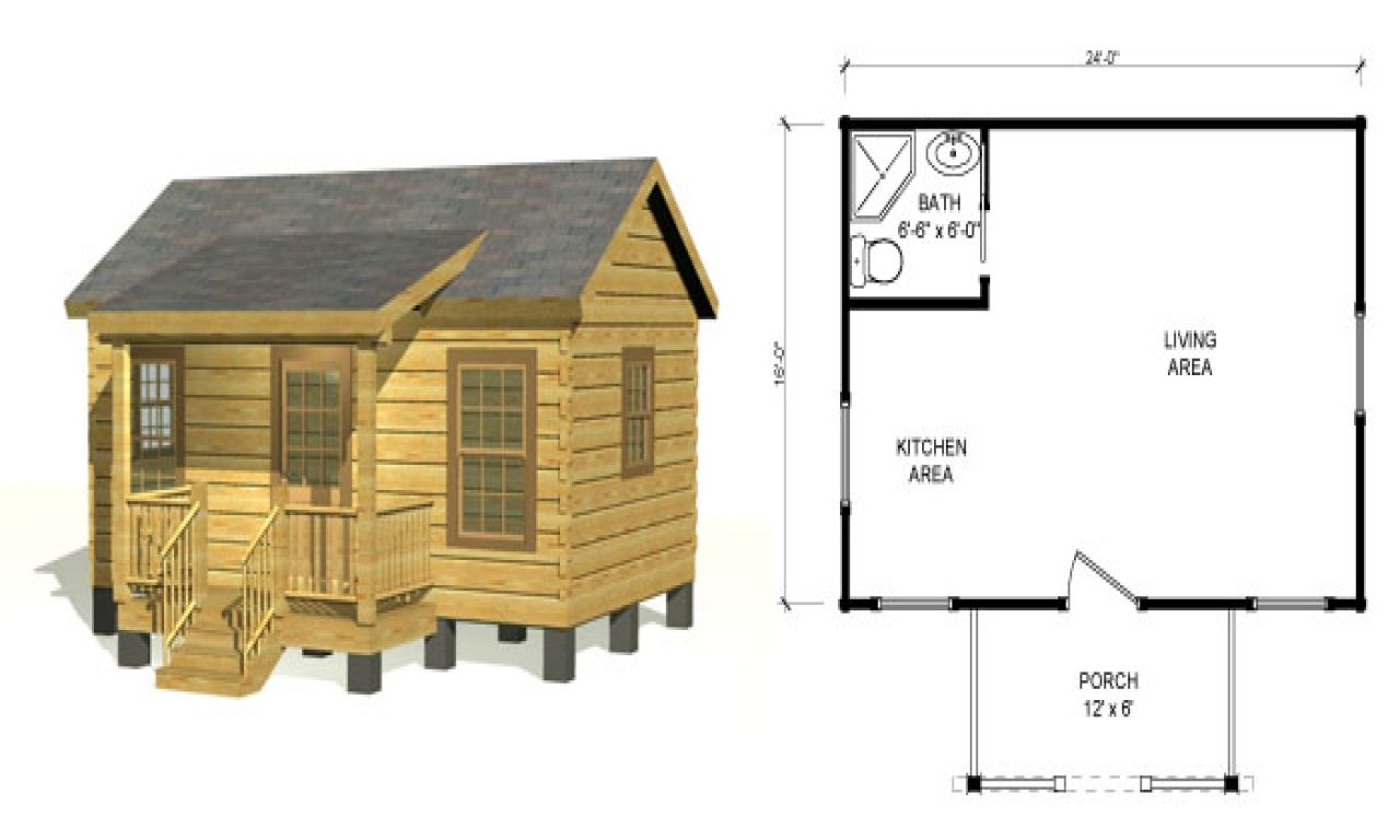 Small Log Cabin Floor Plans Rustic Cabins Hunting Homes Lrg