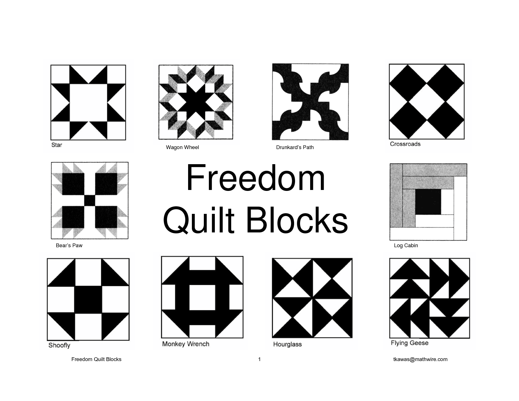 Freedom Quilt Or Quilts To Freedom