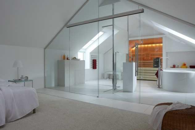 sauna cupreme im modernen bad unterm dach | sauna | pinterest, Schlafzimmer ideen
