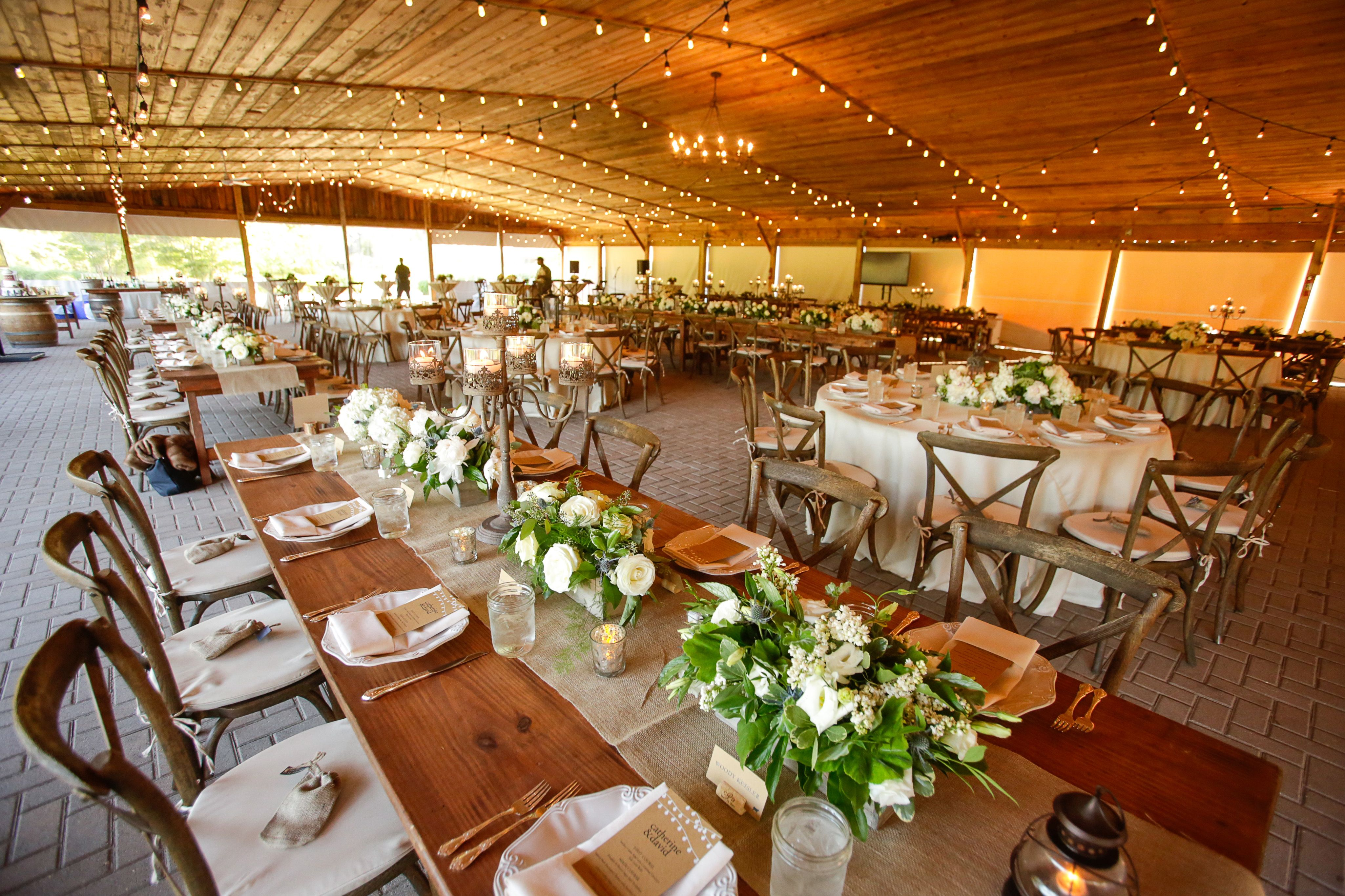 Rehearsal dinner in the event pavilion at the Virginia Zoo Norfolk Virginia