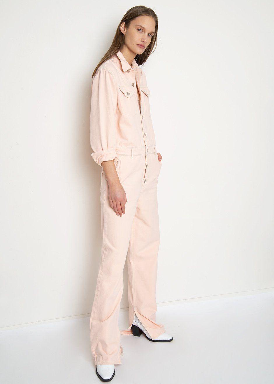 1a96802b5726 Pink Sheldon Denim Jumpsuit by Ganni – The Frankie Shop