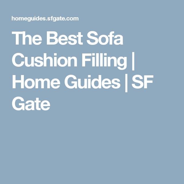 The Best Sofa Cushion Filling