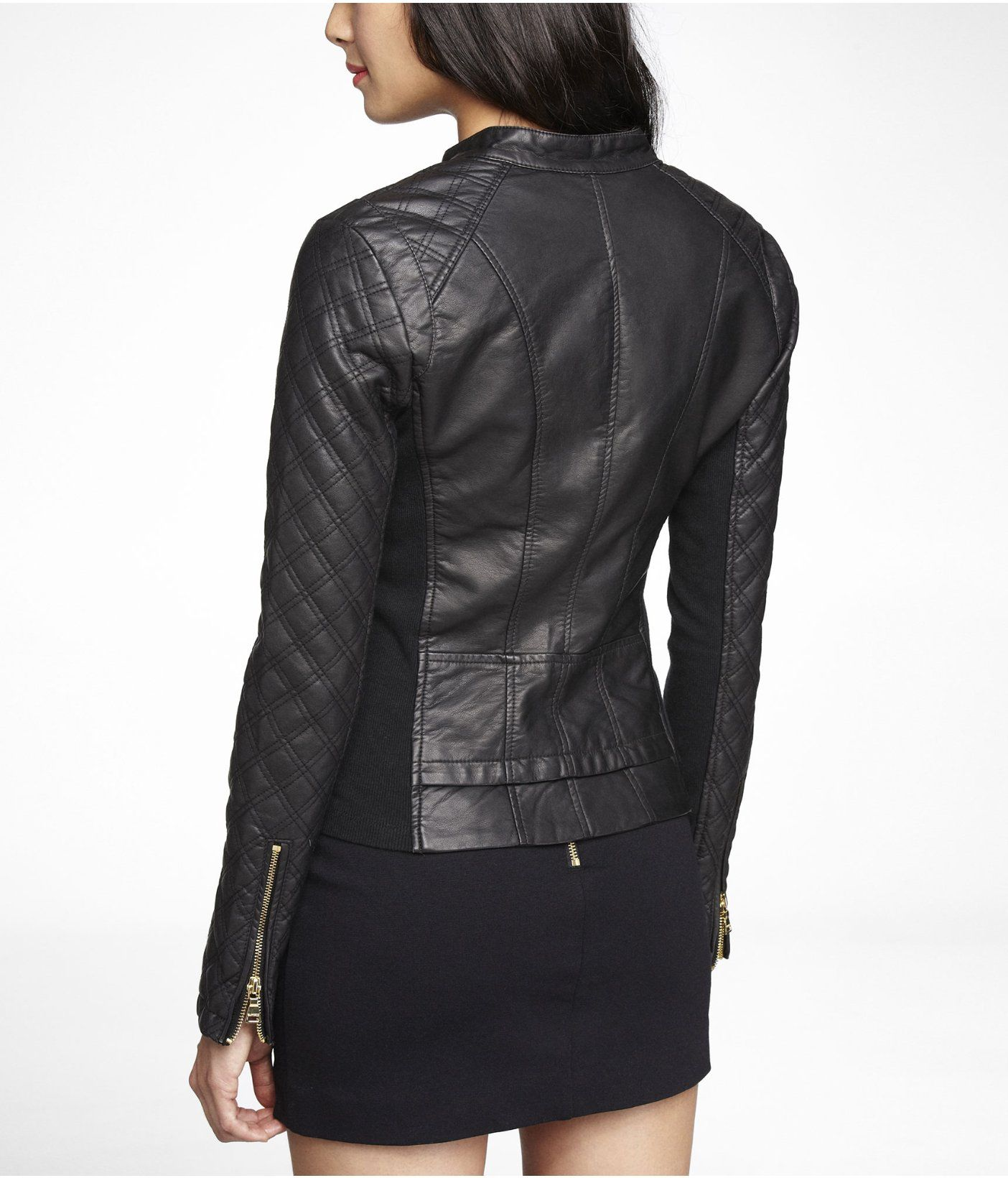 MINUS THE) LEATHER QUILTED MOTO JACKET | Express | Me | Pinterest ... : express quilted leather jacket - Adamdwight.com