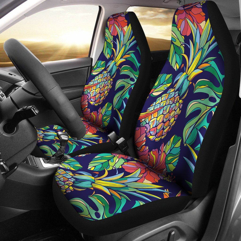 hawaiian chair covers how to make sashes hawaii pineapples car seat cover 02 k7 my