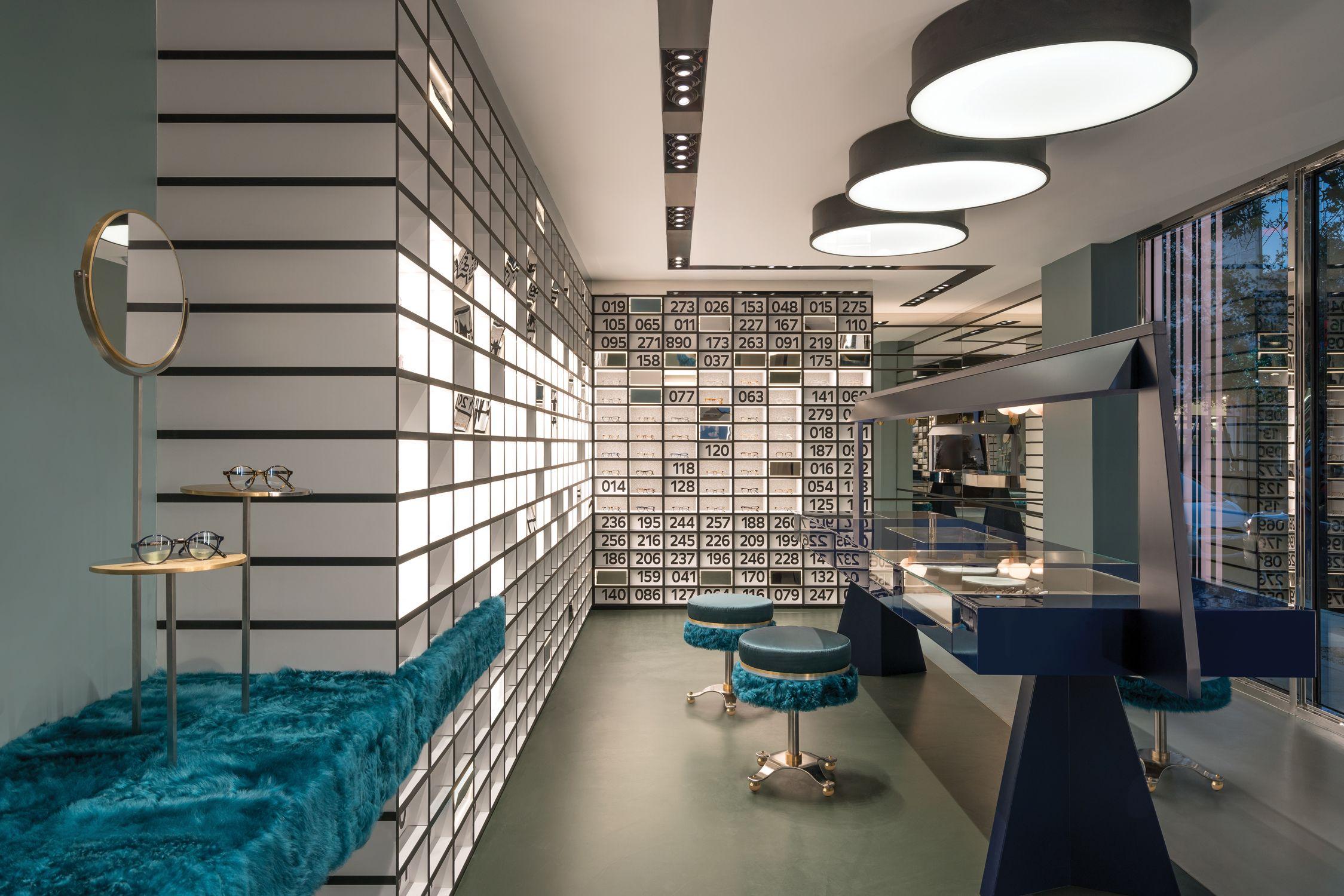 Oliver peoples miami interiordesign retail store eyewear interior decorating interior