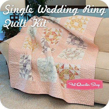 Single Wedding Ring Quilt KitbrFeaturing Whitewashed Cottage by 3