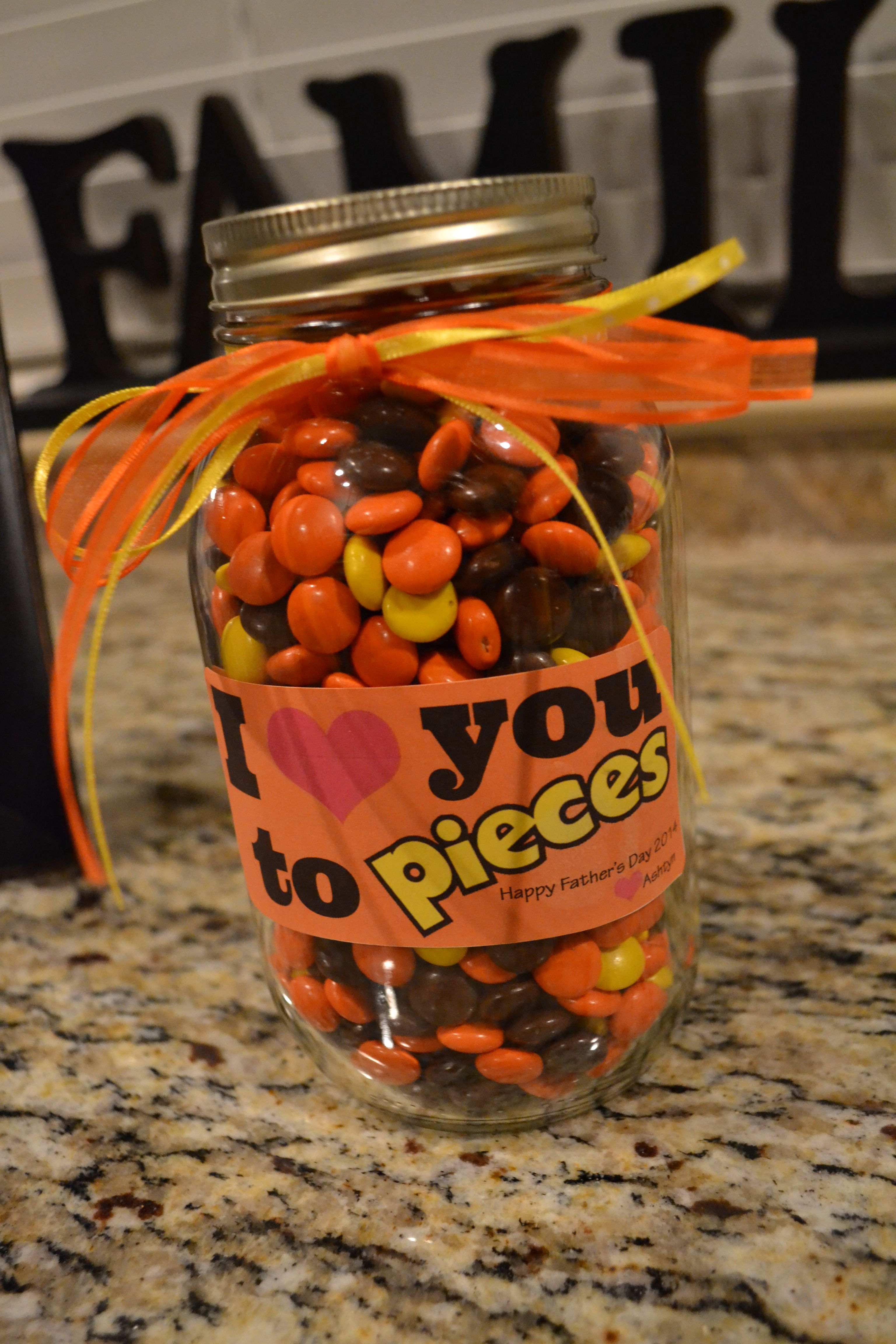 Fathers Day gift to daddyjar filled with his favorite