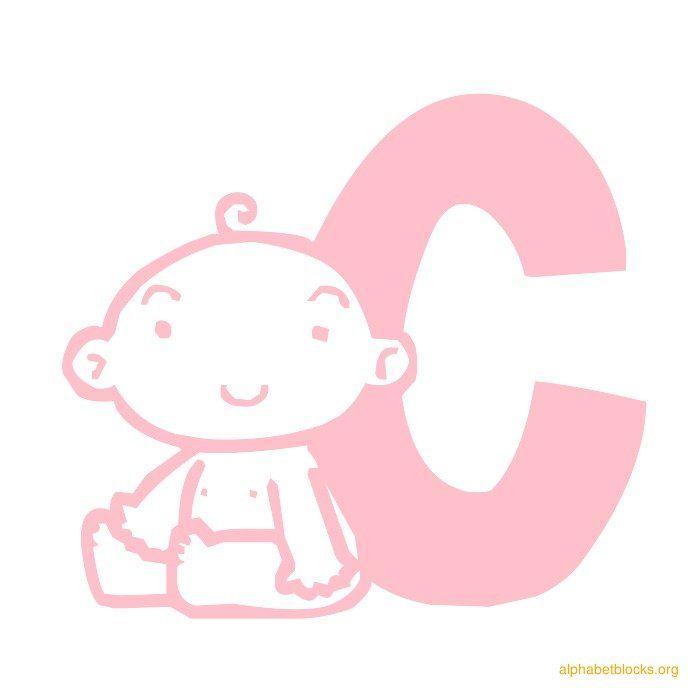 Alphabet Block Baby Pink C  Alphabets    Alphabet