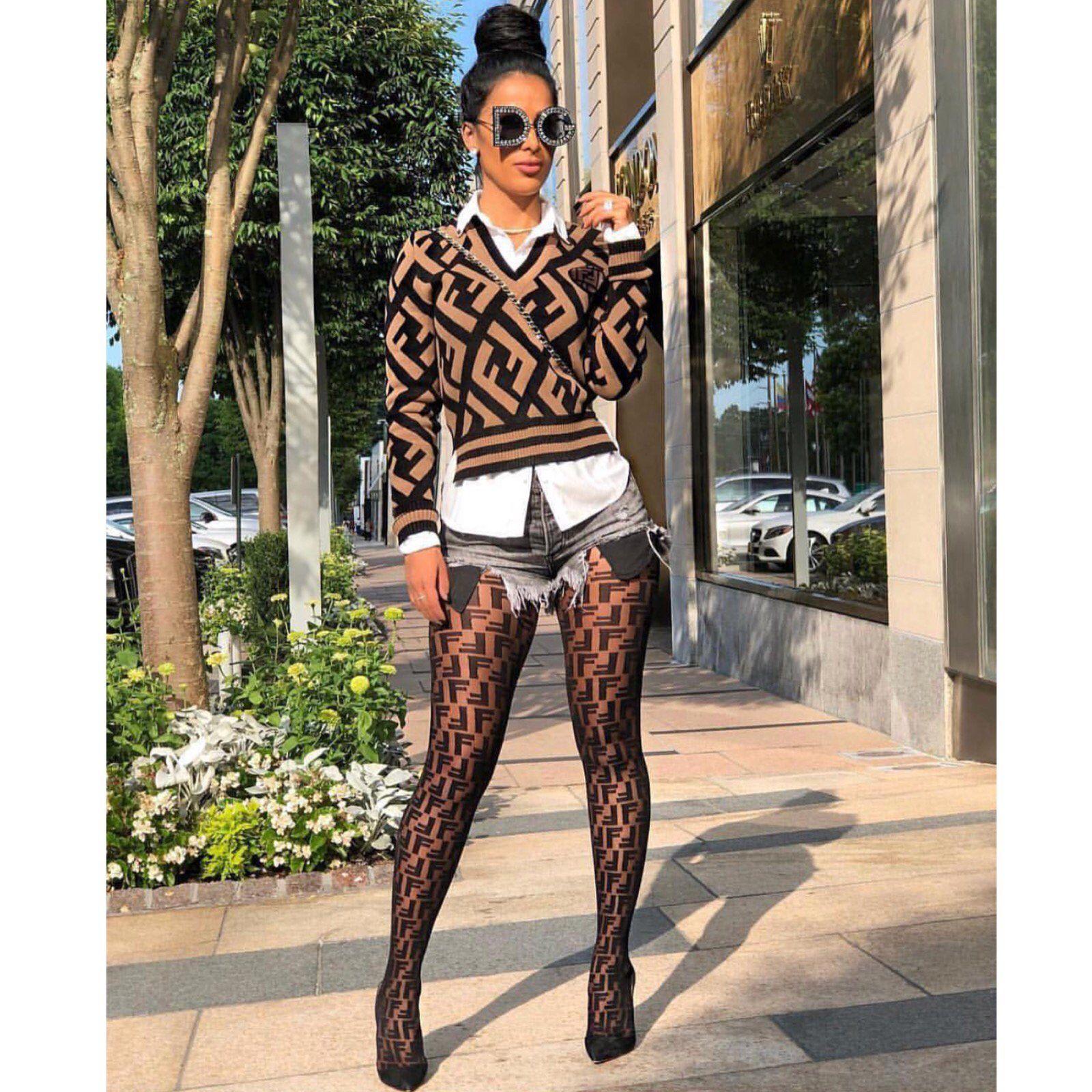 Logo Stocking in 2019 | style options | Fashion, Fendi sweater