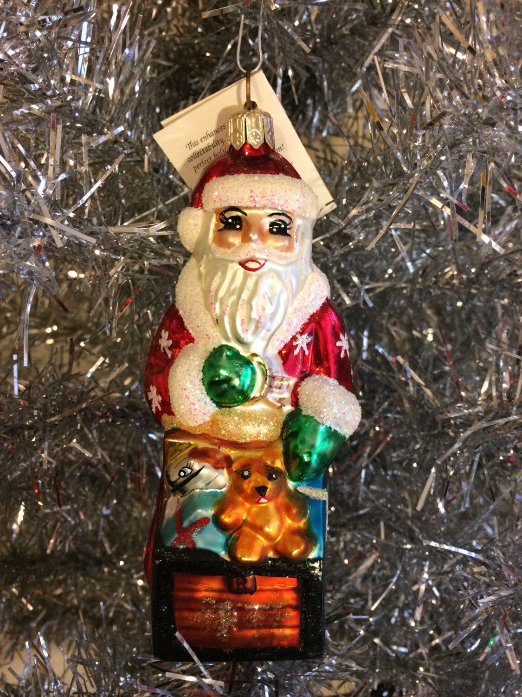 Christopher Radko TINY TOY CHEST Santa Christmas Ornament by PLStudios on Etsy https://www.etsy.com/listing/211410020/christopher-radko-tiny-toy-chest-santa