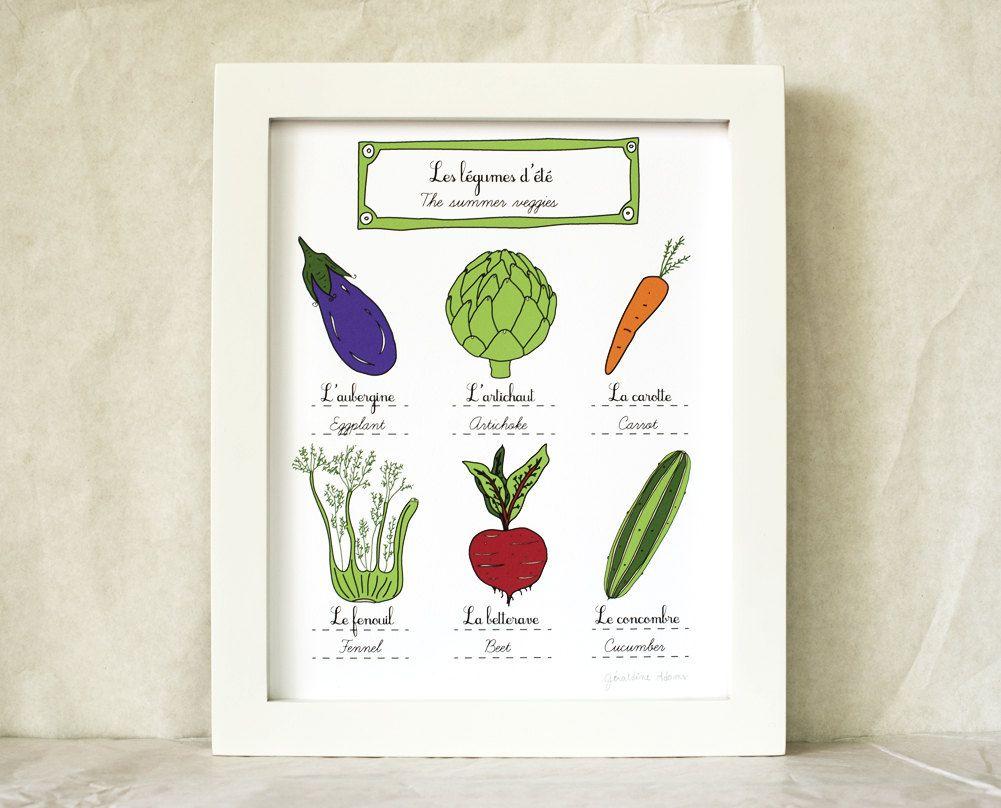 Cahier de vacances u les légumes de luété à colorier veggies and