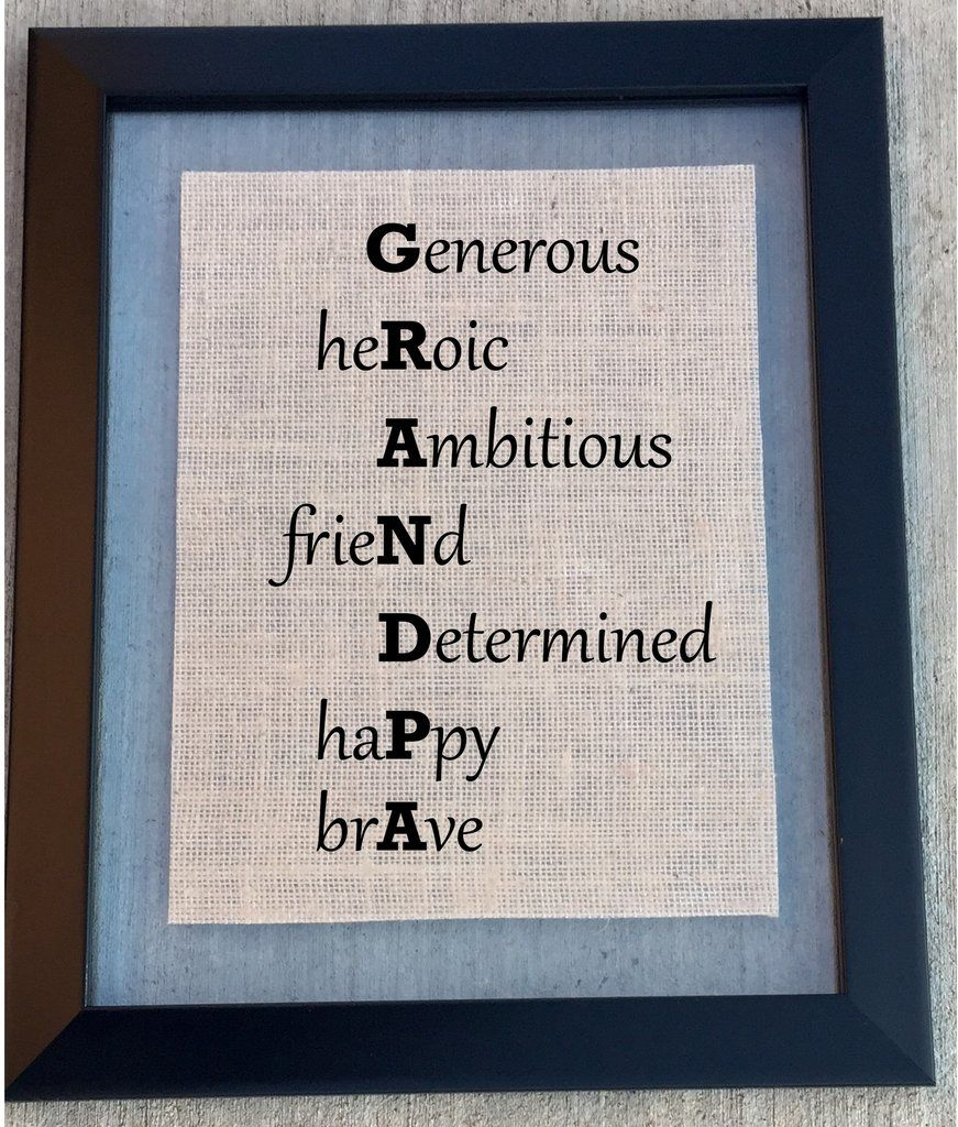 Burlap grandpa sign grandparents christmas gifts and father