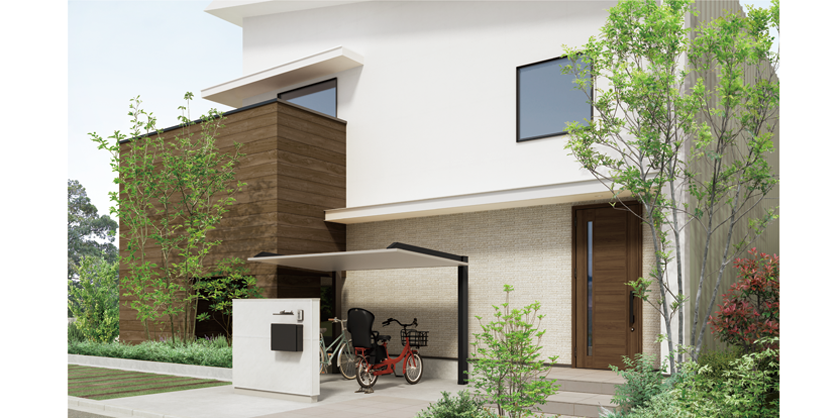 Lixil カースペース カーポート Sc 施工イメージ 2020 カーポート 玄関ドア おしゃれ 収納 アイデア