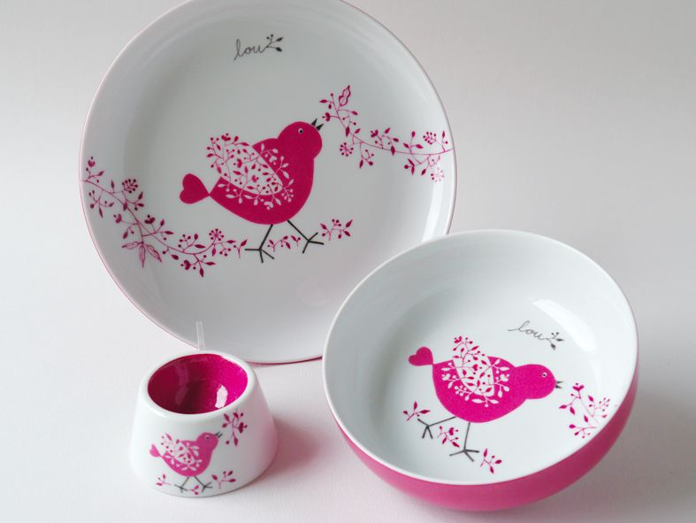 carolina leon firrell: vaisselle bébé personnalisée   animaux ...