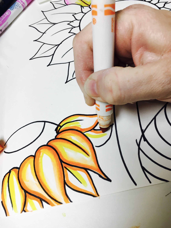 Marker Bleeding Van Gogh Sunflowers Art Lesson | Educación artística ...