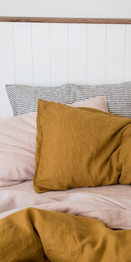 What S Your Favourite Colour Palette In Your Bedroom Seen Here Are Some Of Our Favourite Colours Mustard L Bed Linens Luxury Bed Linen Design Mustard Bedroom