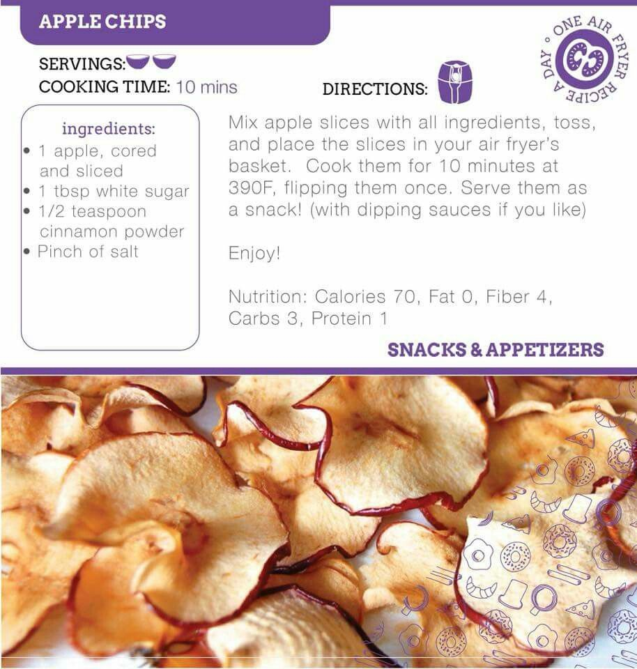 Apple Chips Recipe. in 2020 Apple chips recipe, Air