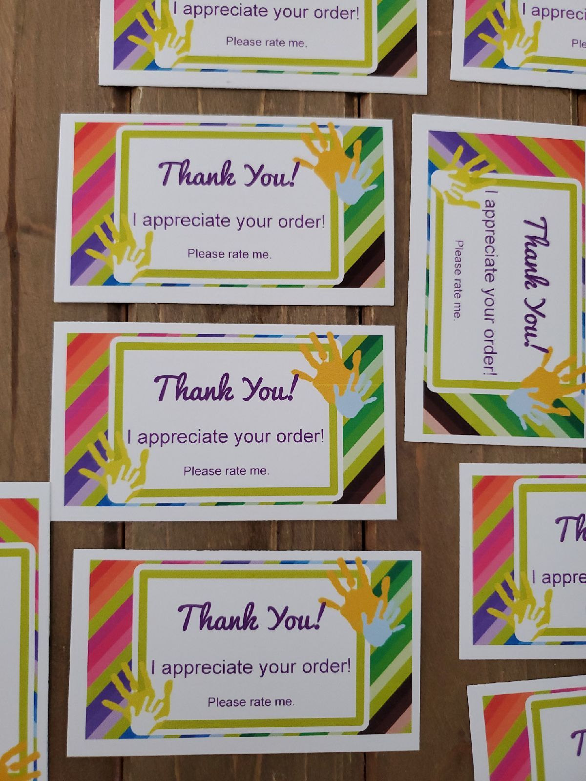 thank you cards 50 business card size  mercari in 2020