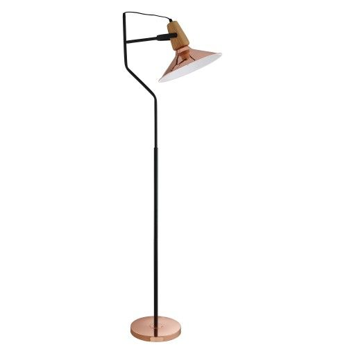 Lighting Collection Copper Floor Lamp Leekes