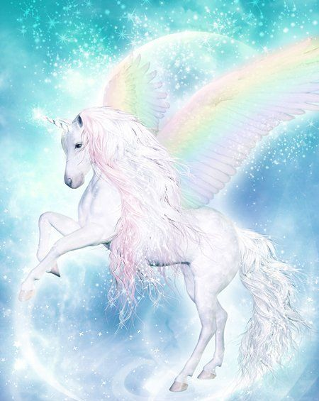 Unicorn With Wings And Rainbow Unicorn | Unico...