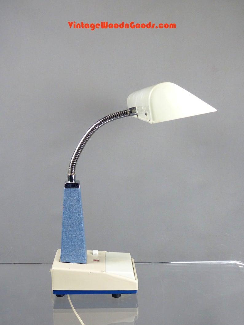 Vintage Gooseneck Metal Desk Lamp Table Light With Flexible Etsy