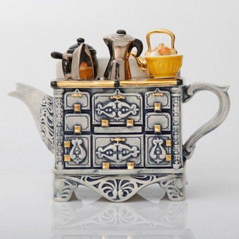 ابريق شاي من السيراميك بتصميم الفرن الفرنسي Teiere