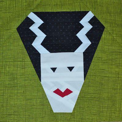 Little Ms. Sew-Unsew: Frankie\'s Bride: My first paper pieced pattern ...