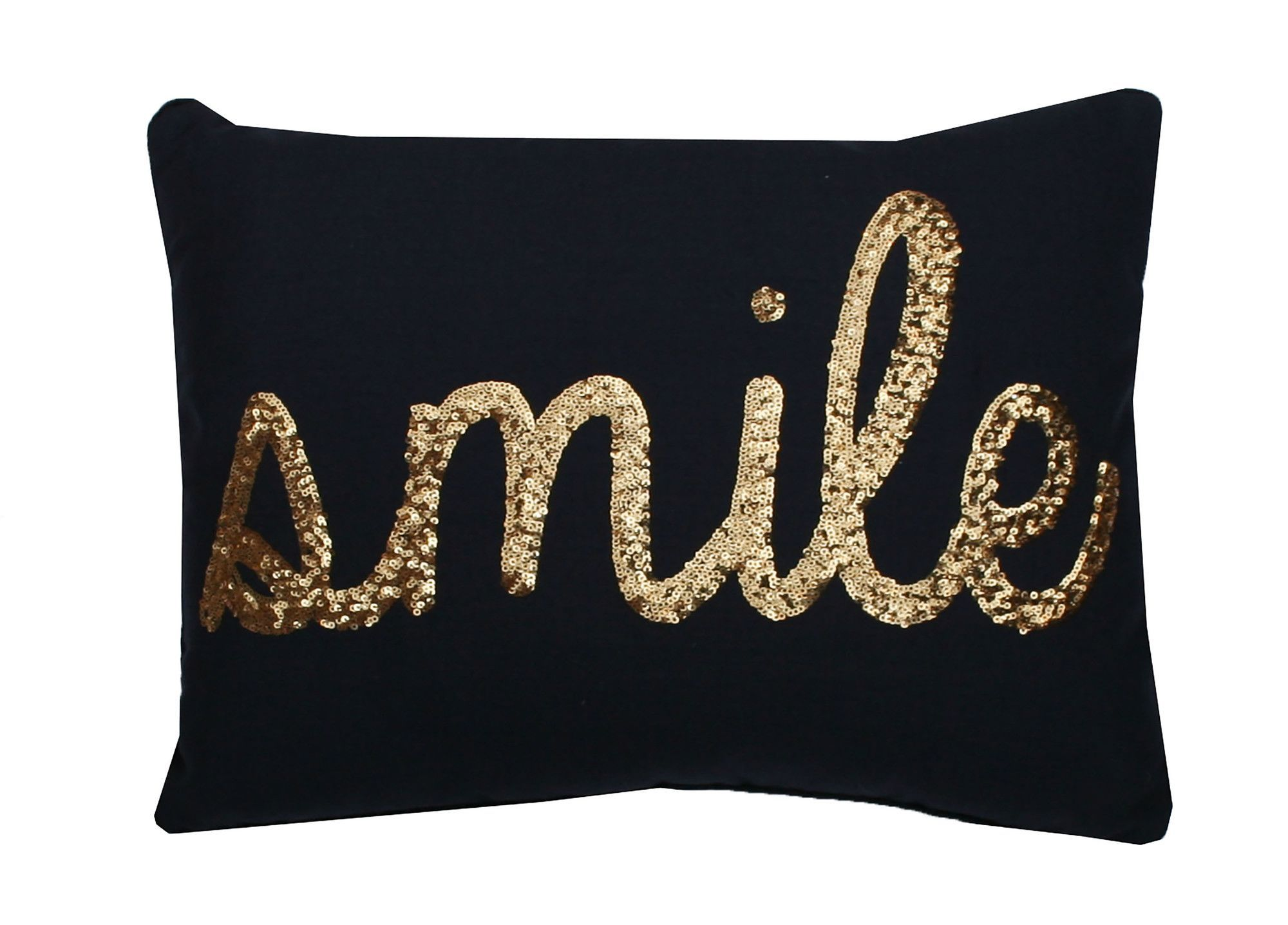 Smile Sequin Script Lumbar Pillow Products