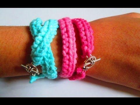d i y tuto tricot apprendre a tricoter des bracelets d. Black Bedroom Furniture Sets. Home Design Ideas