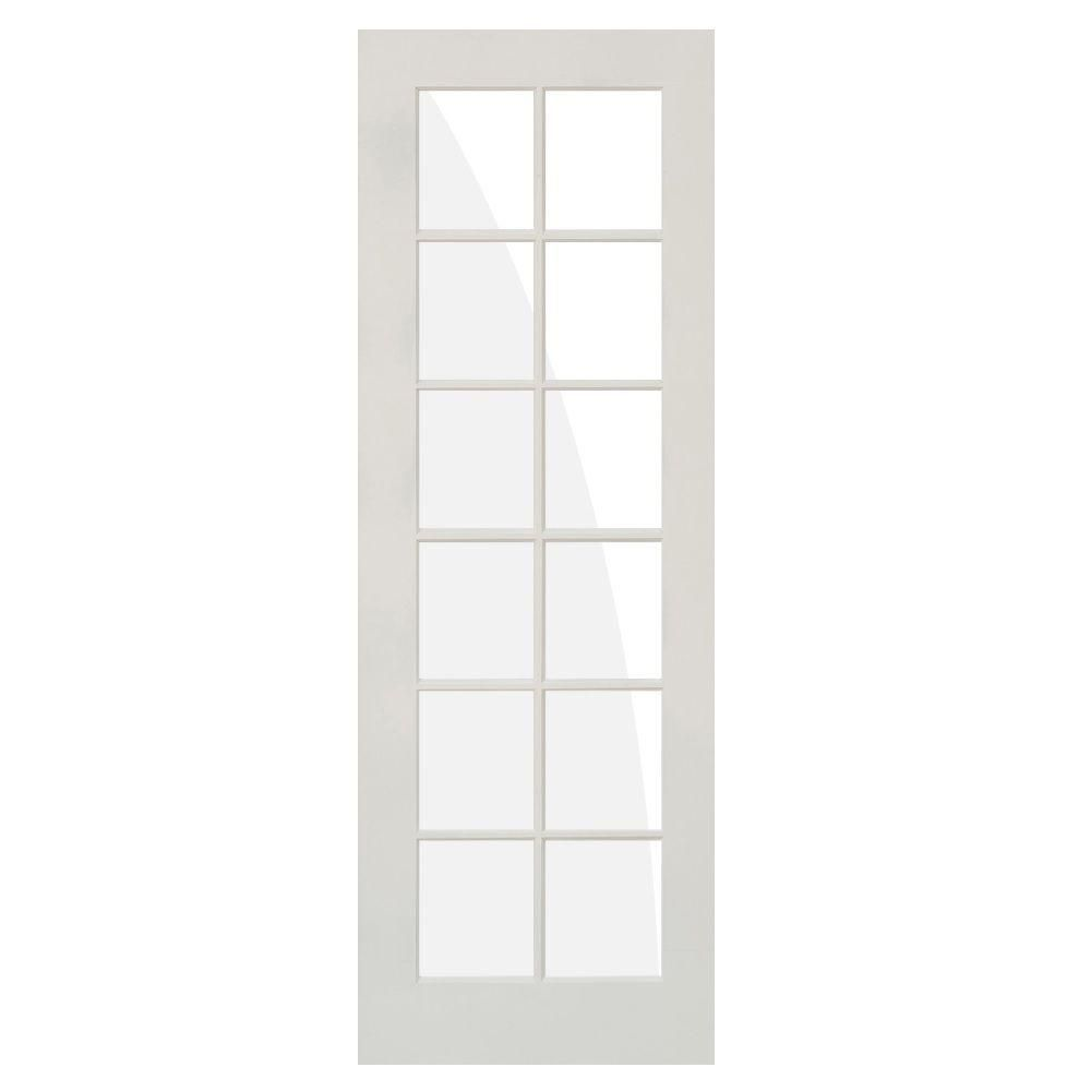 Krosswood Doors 32 In X 96 In 12 Lite Solid Clear Core Mdf Primed Composite Right Hand Single Prehung Interior Door Products Prehung Interior Doors Door
