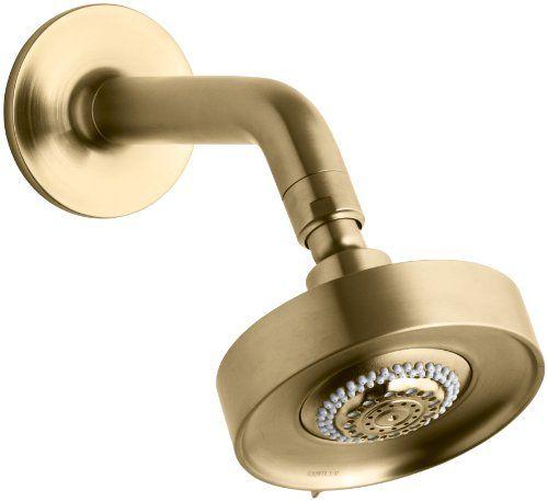 Kohler K-14425-BGD Purist Multifunction Showerhead, Arm and Flange, Vibrant Moderne Brushed Gold