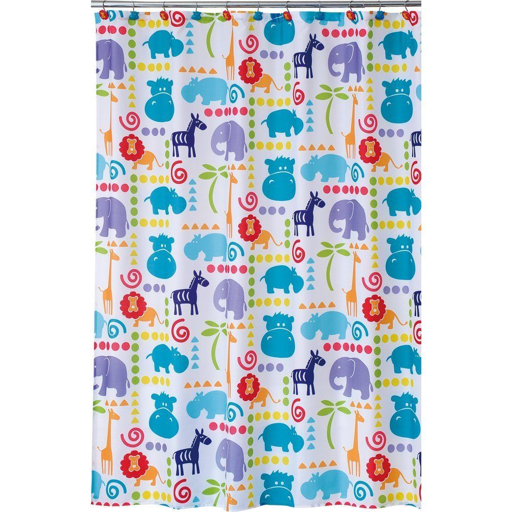 Amazon.com: Allure Home Creations Hippo Poly Duck Printed Shower ...