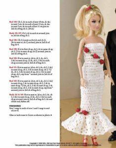 Vestito Tubino Barbie Schema Gratis Tutorial Crochet Uncinetto