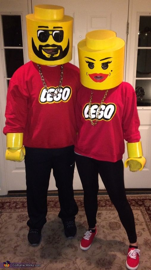 lego couple halloween costume contest at costume kost m fasching und lego kost m. Black Bedroom Furniture Sets. Home Design Ideas