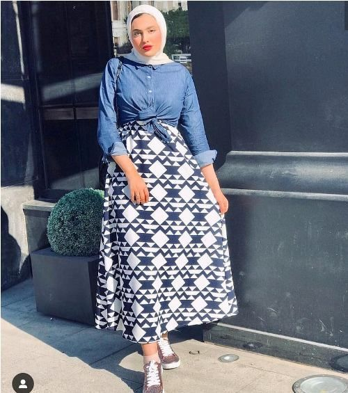 Girly and colorful spring hijab outfits