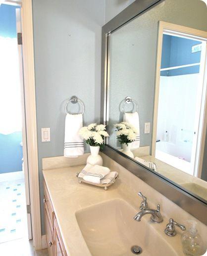 MirrorMate - frame your existing bathroom mirror, via centsational ...