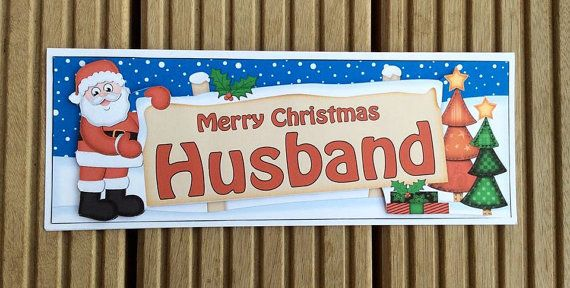 Husband Christmas Card by TheBlenheimCardCo on Etsy