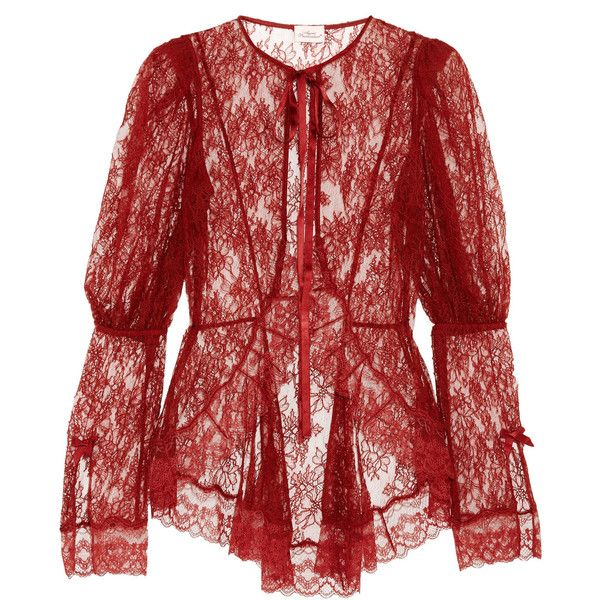 8b0c306cd2 Agent Provocateur Marcia Leavers lace jacket ( 610) ❤ liked on Polyvore  featuring outerwear