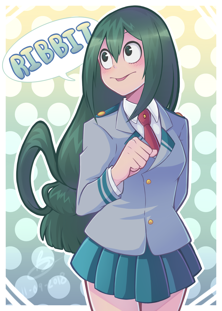 Ribbit By Taiyakipress My Hero Academia Tsuyu Hero