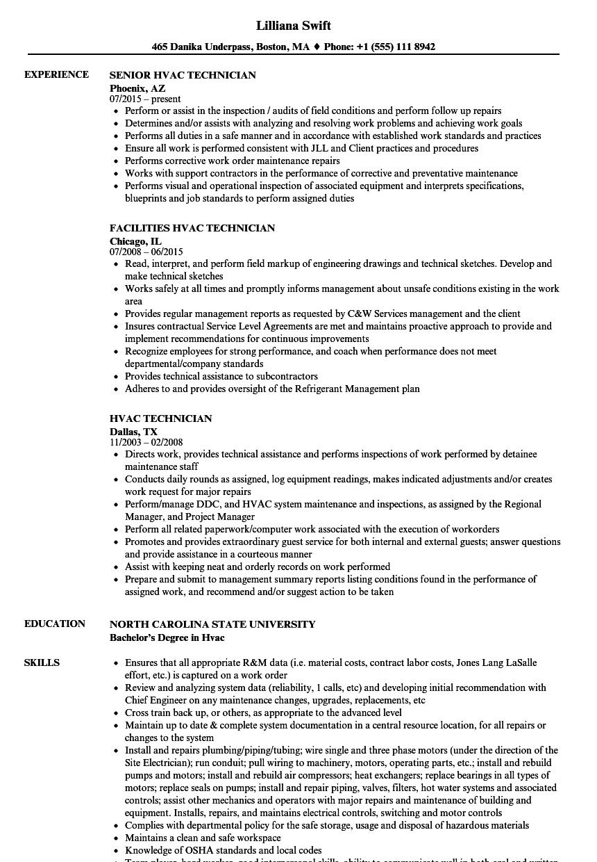 A C Technician Resume Examples Job resume examples