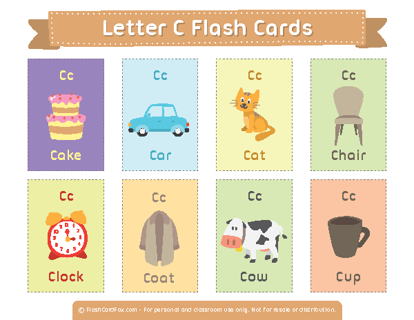 Free Printable Letter C Flash Cards Download Them In Pdf Format At Http Flashcardfox Com Download Lette Flashcards Printable Flash Cards Flashcards For Kids