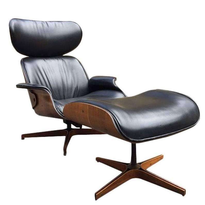Phenomenal George Mulhauser Leather Plycraft Lounge Chair Mmm Ibusinesslaw Wood Chair Design Ideas Ibusinesslaworg