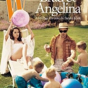 W Magazine Angelina Jolie and Brad Pitt #magazinecovers #bradpitt #angelinajolie