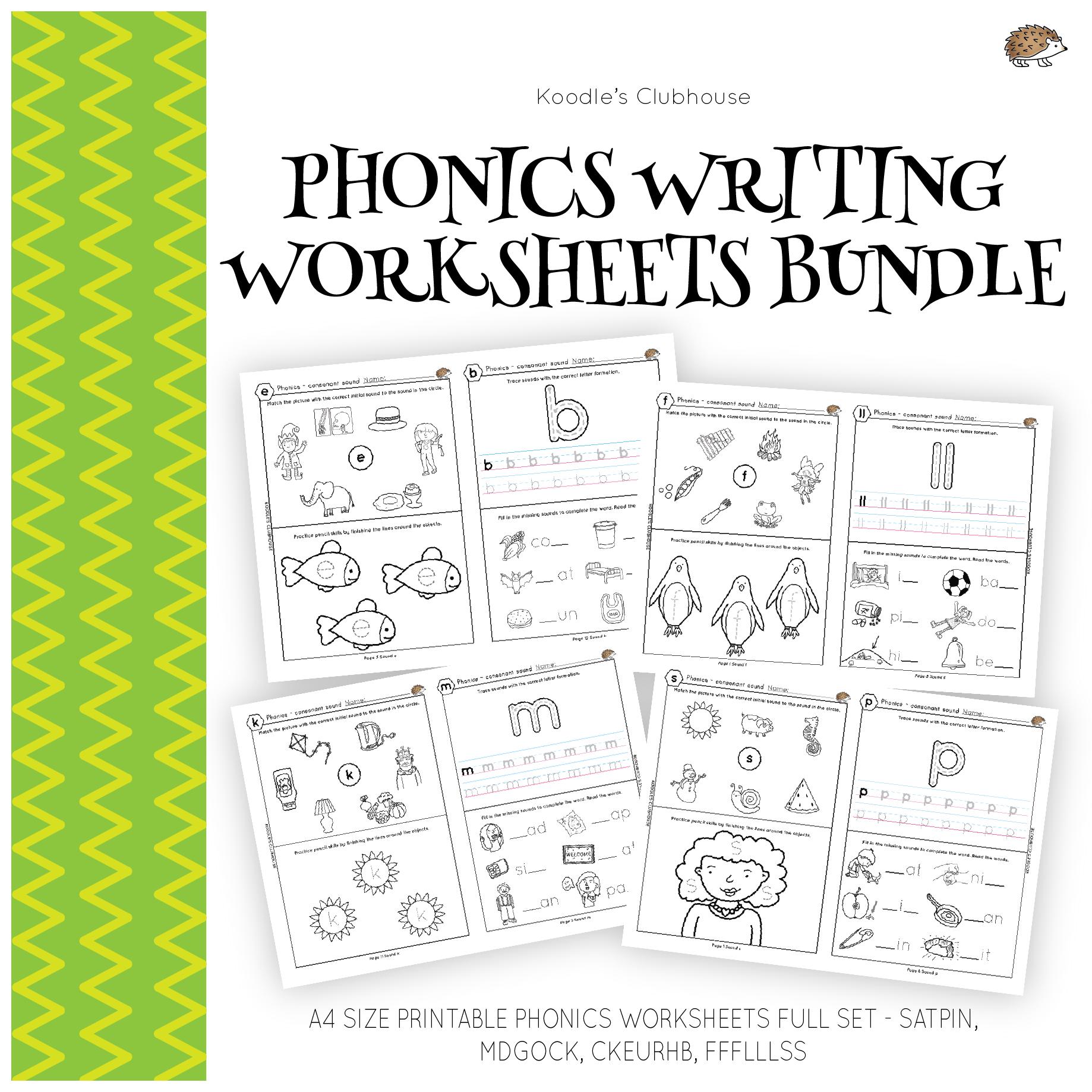Phonics For Beginner S Worksheets Bundle From Koodle S