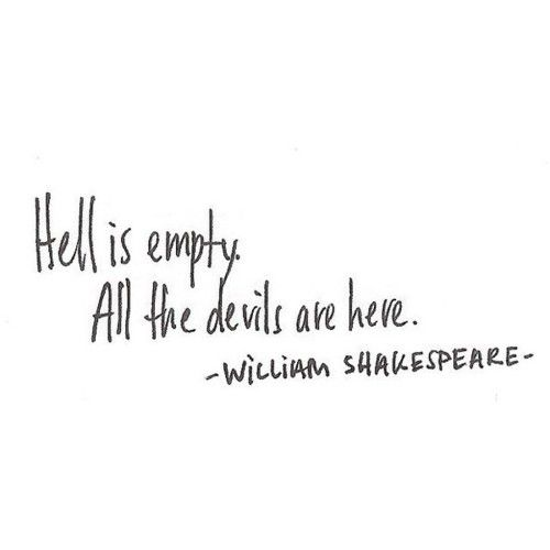 a darker quote from Shakespeare