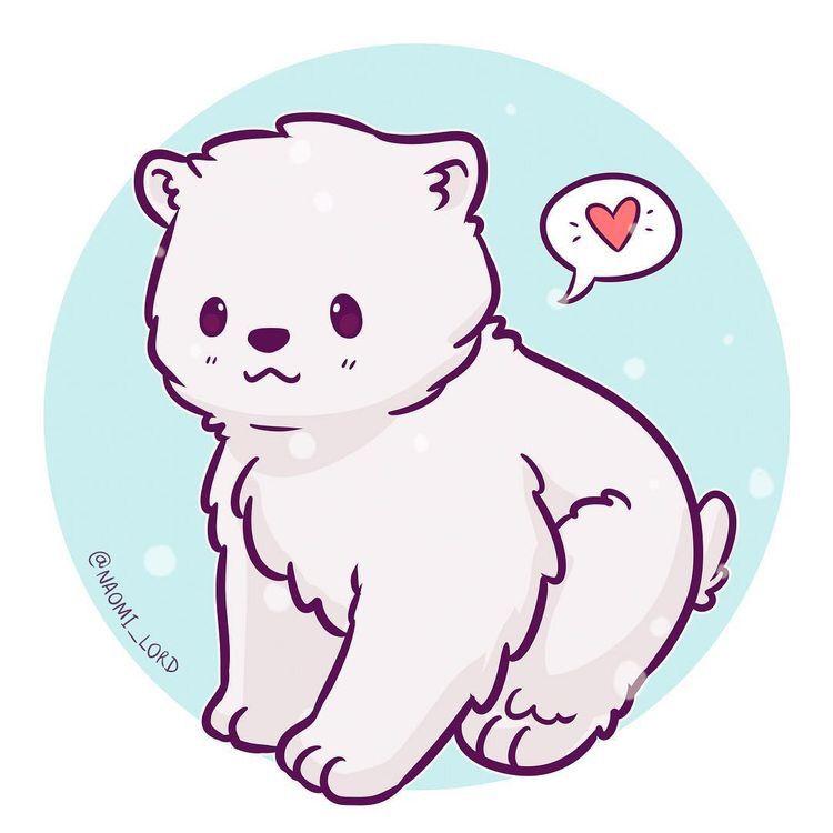 Kawaii Polar Bear Art Pinterest Manga Zeichnen Anime Tiere