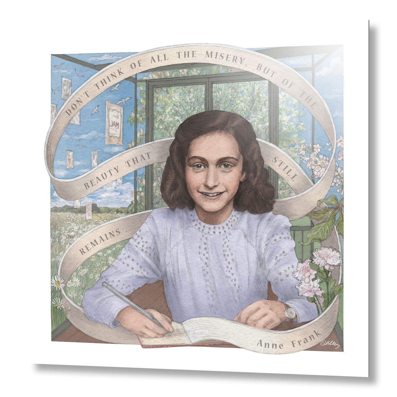 Anne Frank Aluminum El Diario De Ana Frank Anne Frank Ana Frank